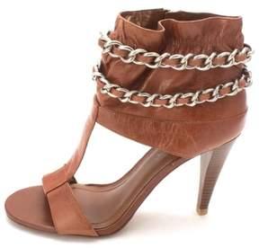 BCBGeneration Womens Ciria Open Toe Casual T-Strap Sandals Almond