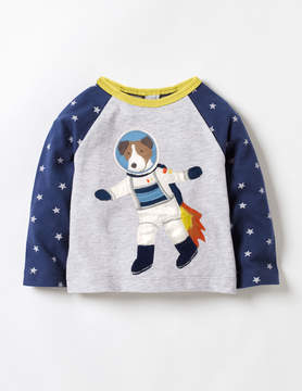 Boden Spacedog Appliqué T-shirt