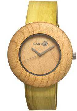 Earth Ligna Khaki / Tan Wood Khaki / Tan Leather Unisex Watch