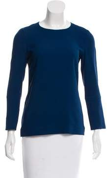 Calvin Klein Collection Long Sleeve Structured Blouse