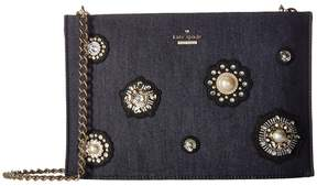 Kate Spade Cameron Street Embellished Denim Sima Handbags - PORT BLUE - STYLE