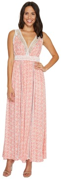 Brigitte Bailey Danika Sleeveless Maxi Dress with Lace Detail Women's Dress
