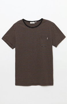 rhythm Everyday Striped Pocket T-Shirt