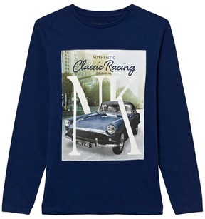 Mayoral Navy Car Print Long Sleeve Tee