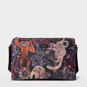 Paul Smith Men's Canvas 'Monkey' Print Messenger Bag