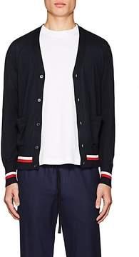 Moncler Gamme Bleu Men's Striped Cashmere-Silk Cardigan
