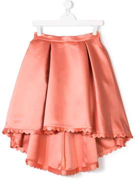 Elisabetta Franchi La Mia Bambina TEEN scalloped trim skirt