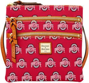 Dooney & Bourke Ohio State Buckeyes Triple Zip Crossbody Bag - RED/BROWN - STYLE