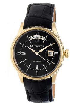 Heritor Vernon Mens Black Strap Watch-Herhr5807