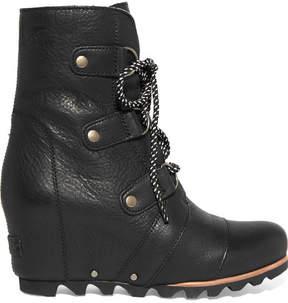 Sorel Joan Of Arctic Waterproof Leather Ankle Boots - Black