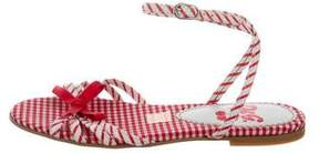 Dolce & Gabbana Girls' Leather Striped Sandals