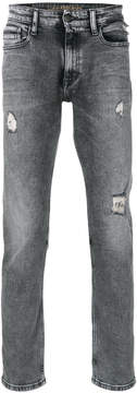 CK Calvin Klein distressed straight leg jeans