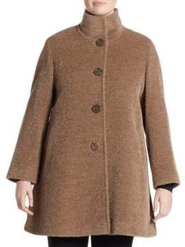 Cinzia Rocca Cinzia Rocca, Plus Size Plus Four-Button Wool& Alpaca Coat