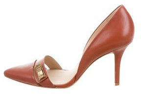 AERIN Leather D'Orsay Pumps
