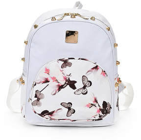 Shein Pocket Front Butterfly Print PU Backpack