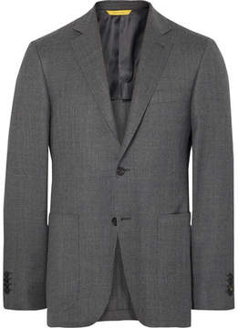 Canali Grey Kei Travel Slim-Fit Unstructured Water-Resistant Wool Blazer