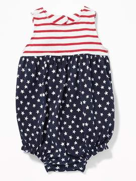 Old Navy Flag-Print Bubble One-Piece for Baby