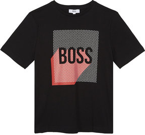 BOSS Logo cotton T-shirt 4-16 years