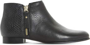 Dune Pander textyred leather ankle boots