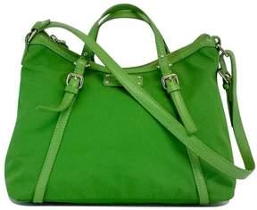 Kate Spade Green Nylon & Leather Shoulder Bag - GREEN - STYLE