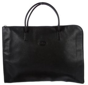 Longchamp Grained Leather Handle Bag - BLACK - STYLE