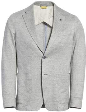 Canali Trim Fit Washed Jersey Jacket