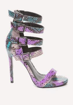 Bebe Theda Faux Snake Sandals