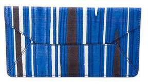 Tory Burch Striped Envelope Clutch - BLUE - STYLE