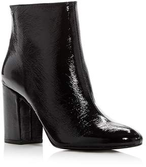 Kenneth Cole Women's Caylee Patent Leather High Block Heel Booties