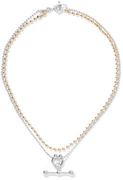 Eddie Borgo Gold And Rhodium-plated Necklace