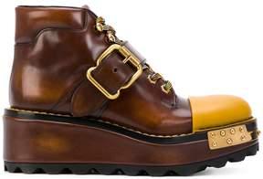 Prada buckled platform boots