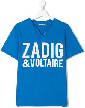 Zadig & Voltaire Kids TEEN logo print T-shirt