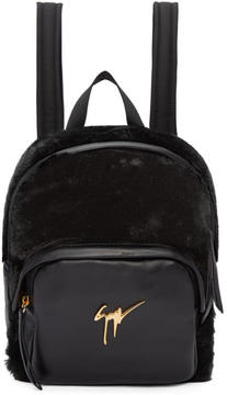 Giuseppe Zanotti Black Mini Leather Backpack