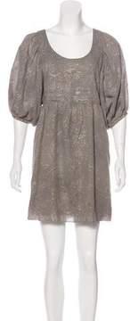 Erin Fetherston Metallic Mini Dress