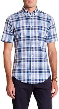 Brooks Brothers Madras Jones Beach Short Sleeve Regent Fit Shirt