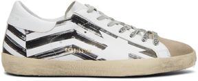 Golden Goose Deluxe Brand White Flag Superstar Sneakers
