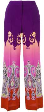Etro Marrakesh print wide-leg pants