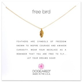 Dogeared Women's Reminder - Free Bird Pendant Necklace