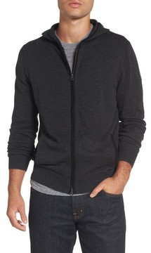 Nordstrom Men's Big & Tall Zip Front Hooded Sweater