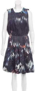 Cynthia Rowley Silk-Blend Knee-Length Dress