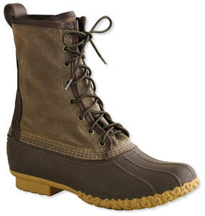 L.L. Bean Signature Women's Waxed-Canvas Maine Hunting Shoe, 10