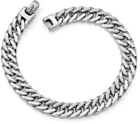 Ice 14k White Gold Polished Men's Bracelet