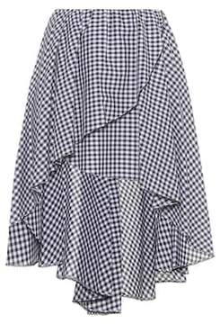 Caroline Constas Adelle checked cotton skirt