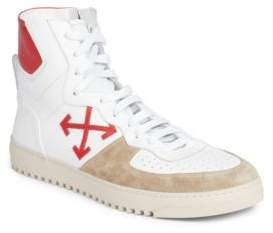 Off-White Arrow Leather Sneakers