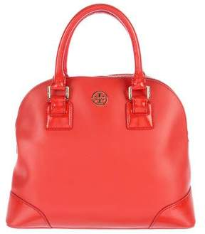 Tory Burch Logo Leather Satchel - RED - STYLE