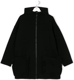 Simonetta frill trim pocket coat