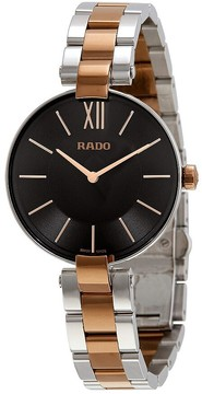 Rado Coupole Stainless Steel and Rose Gold PVD Ladies Watch