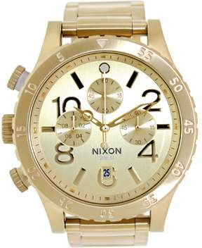 Nixon Men's 48-20 Chrono A486502 Gold Stainless-Steel Quartz Fashion Watch