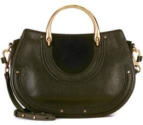 Chloé Pixie leather and suede shoulder bag