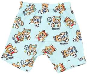 Moschino Bear Printed Cotton Jersey Shorts